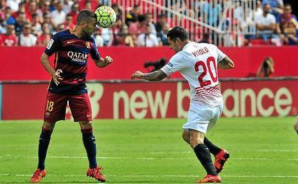 Jordi Alba no estará este domingo en el Ramón Sánchez Pizjuán.
