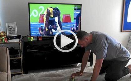 ¿Podrá este hombre arrebatar el récord a Bolt con...un cubo de Rubick?