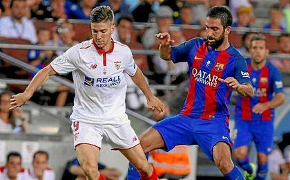 Vietto, en un lance del partido del Camp Nou.