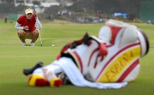 La surcoreana Park, campeona ol�mpica de golf y Azahara Mu�oz y Ciganda, muy alejadas del diploma