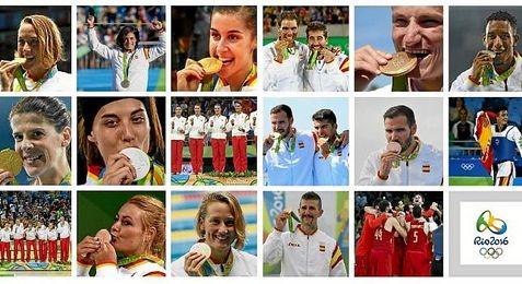 Las 17 medallas de España en Río 2016.