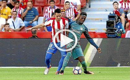"""El Sporting de Gijón condena """"cualquier tipo de acto de racismo"""", tras los gritos a Iñaki Williams"""
