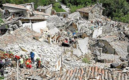 De los fallecidos, 204 estaban en Amatrice, una de las localidades más afectadas.