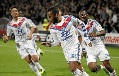 Lacazette es la gran estrella del Lyon.