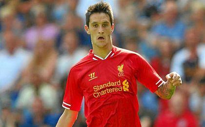 Luis Alberto con la camiseta del Liverpool