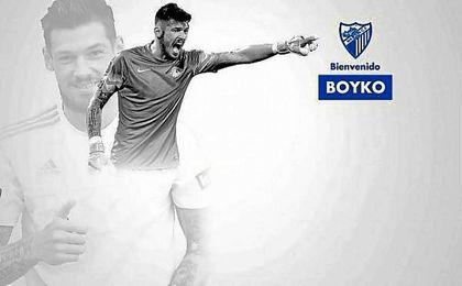 El portero ucraniano Boyko llega cedido al Málaga.