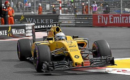 Magnussen en el circuito de Mónaco.