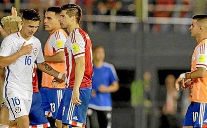 Felipe Gutiérrez, tras la derrota ante Paraguay.