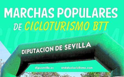 Cartel de las marchas populares del cicloturismo BTT