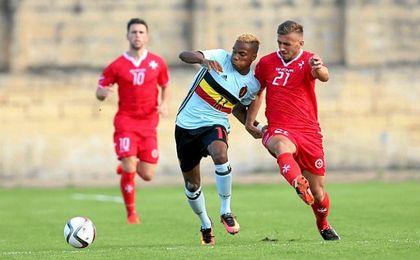 Charly Musonda, con la sub 21 belga.
