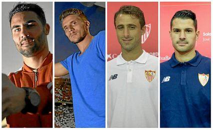 Iborra, Carri�o, Pareja y Vitolo, los capitanes.
