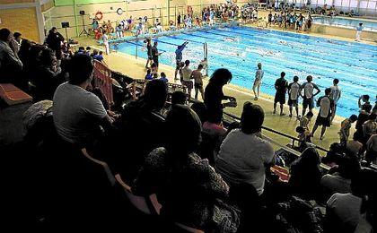 La piscina ubicada en San Pablo durante la disputa de una prueba en el pasado.