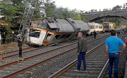 Accidente de tren en O Porriño (Pontevedra).