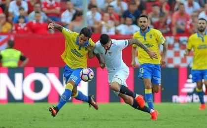 Vitolo fue uno de los que cambi� el partido en la segunda mitad.