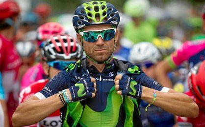 Alejandro Valverde durante la Vuelta.