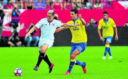 Nasri, en su debut como sevillista contra Las Palmas.