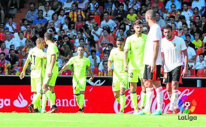 El triunfo verdiblanco en Mestalla sirvi� para reventar varias estad�sticas negativas.