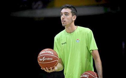 Marc García, durante un entrenamiento con el Betis Baloncesto.