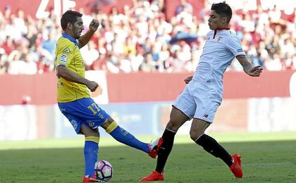 Imagen del encuentro que enfrentó a Sevilla y Las Palmas.