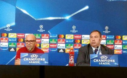 Sampaoli, en la sala de prensa del Juventus Stadium.