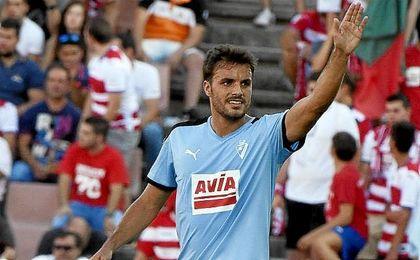 Pedro León, tras marcar ante el Granada la pasada jornada.