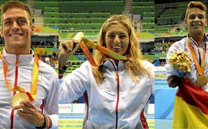 El equipo de natación ha conseguido tres oros, una plata y un bronce.
