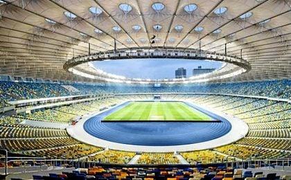 Estadio Olímpico de Kiev, donde España se proclamó campeón de Europa en 2012.