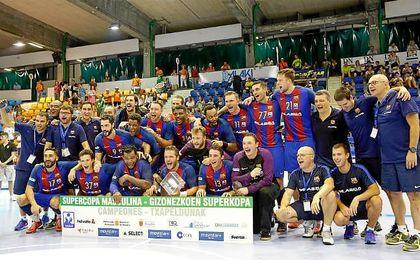 El Barcelona Lassa, tras ganar la Supercopa de Espa�a hace unas semanas.