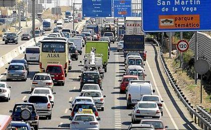 Volumen de tráfico que soportan las principales ciudades españolas cada día.