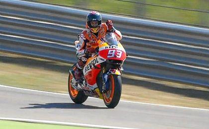 Con su victoria en Alca�iz, M�rquez que encamina hacia su tercer t�tulo de MotoGP.