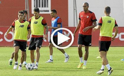 Los jugadores que no tuvieron minutos en Bilbao han disputado un partidillo ante el División de Honor Juvenil.