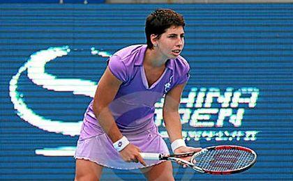 Carla Suárez cae ante la británica Konta en la tercera ronda de Wuhan