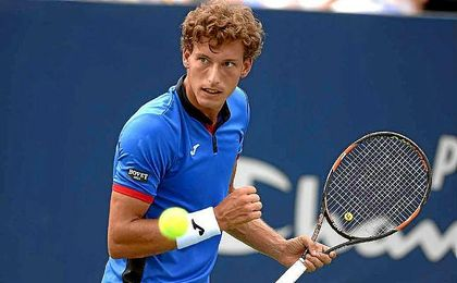 El tenista espa�ol Pablo Carre�o, eliminado del torneo de Chengdu.