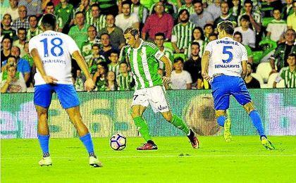 El portuense se volvi� a encontrar con el gol en la feudo verdiblanco en la pasada jornada.