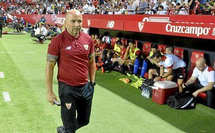 Jorge Sampaoli ha firmado excelentes registros hasta el momento en el Sánchez Pizjuán.