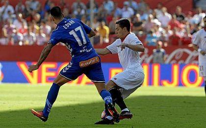 Nasri no llegó a la hora de partido frente al Alavés.