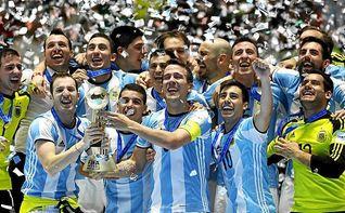 Argentina derrota a Rusia (4-5) y se corona campeón del mundo de fútbol sala