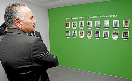 Rafael Gordillo, en su visita al Betis Tour Experience.