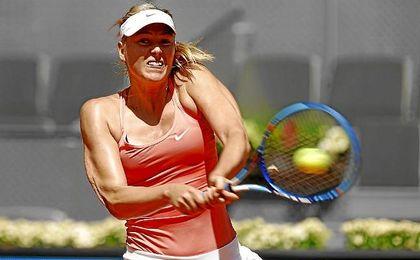 Maria Sharapova, durante un partido.