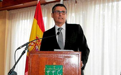 Antonio García Gaona, presidente de la Federación de Fútbol de Ceuta.