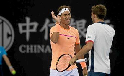 Rafa Nadal y Pablo Carreño esperan rivales para la semifinal del torneo de China.
