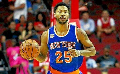 Rose, en su debut con los Knicks.