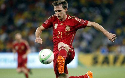 Nacho Monreal con la selección española.