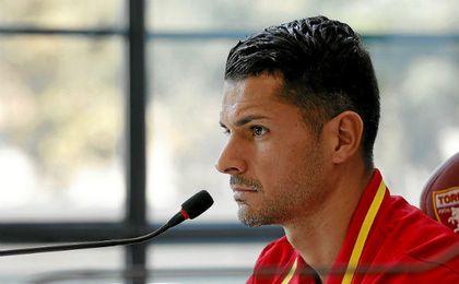 Vitolo, en rueda de prensa con la ´Roja´.