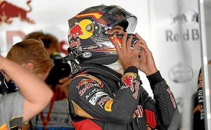 Sainz no ha acabado contento el GP de Japón.