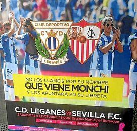 Imagen del cartel del Leganés-Sevilla.