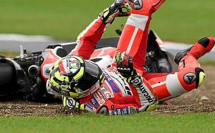 Ianone se fractur� una vertebra en una ca�da en el GP de Misano.
