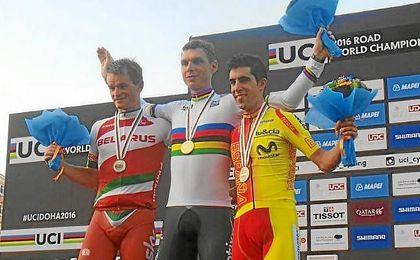 Kirienka, Martin y Castroviejo, en el podio.