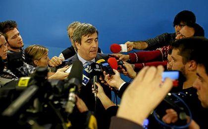 El presidente del Consejo Superior de Deportes, Miguel Cardenal, atiende a los medios.
