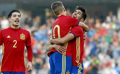 La selección española se medirá a Austria en la repesca para el Europeo sub 21 de Polonia 2017.